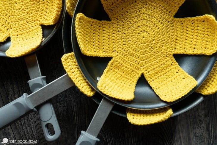 crochet pan protectors pattern