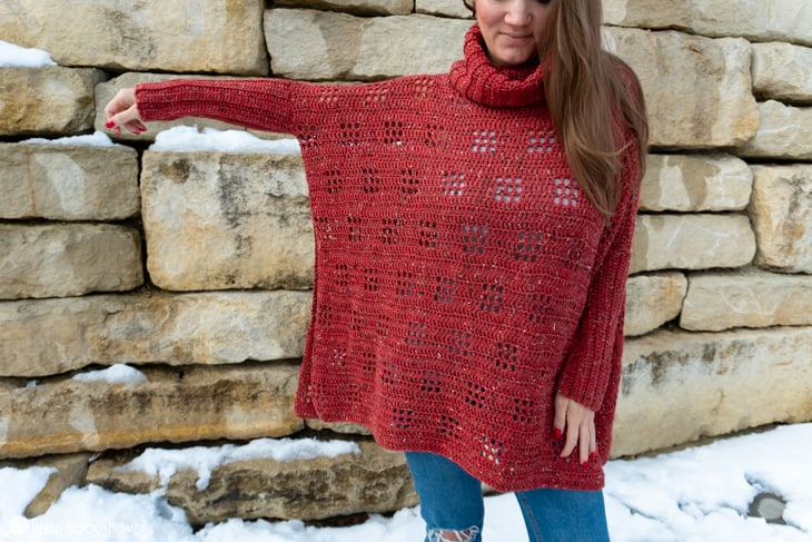 crochet poncho with sleeves pattern