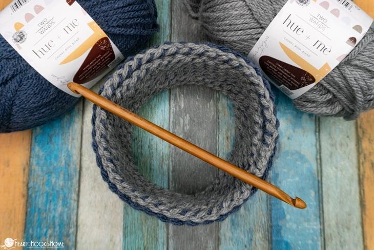 how to tunisian crochet round