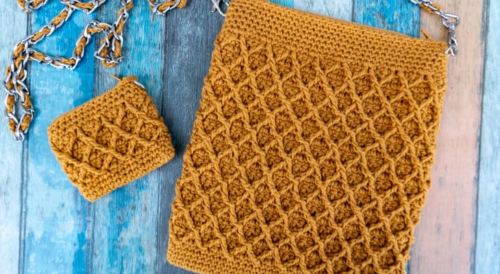 Diamond purse crochet pattern