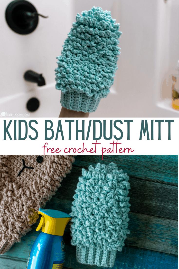 kids size mitt crochet pattern