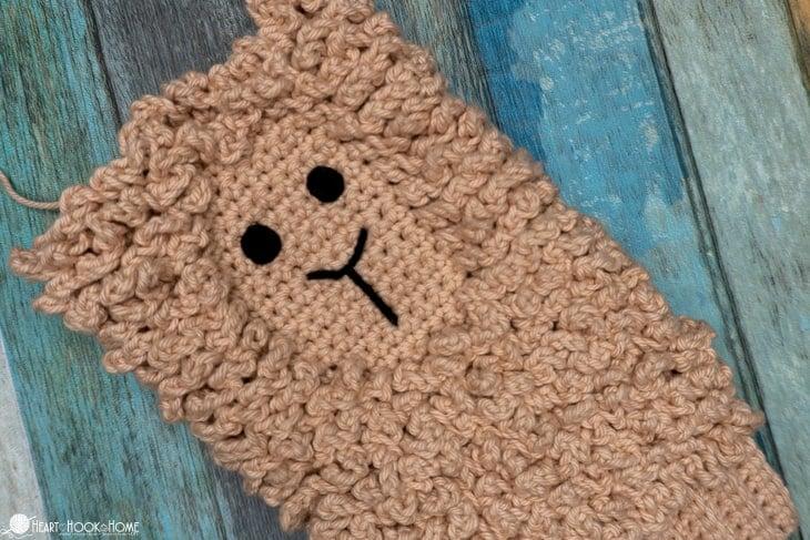 llama dusting mitt free crochet pattern