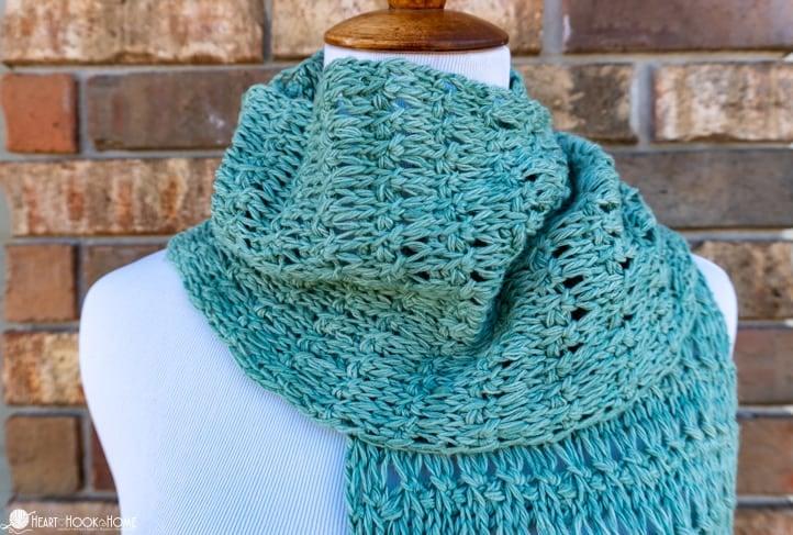 spring fling knitling scarf
