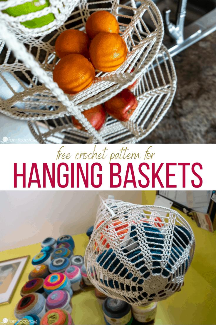 crochet hanging baskets free pattern