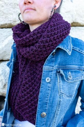 free tunisian puff stitch scarf pattern