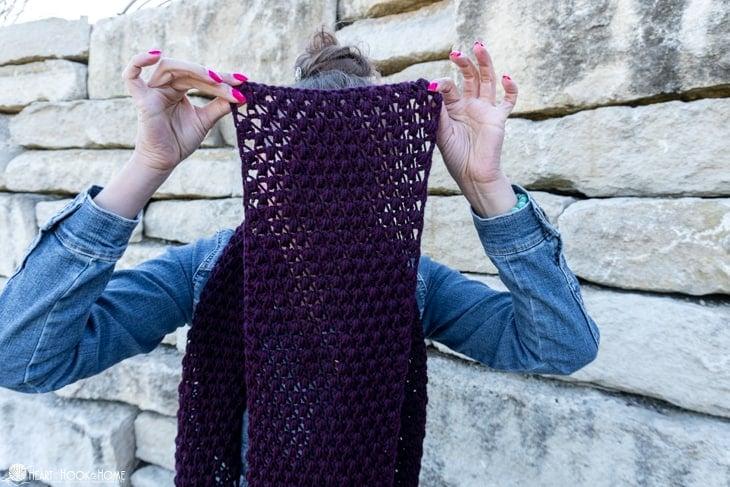 tunisian crochet scarf pattern