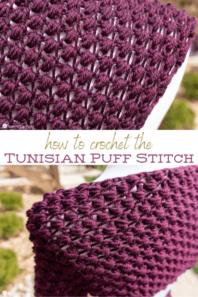 Tunisian Puff Stitch Tutorial