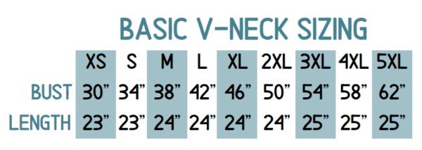 Basic V Neck Sweater Sizing