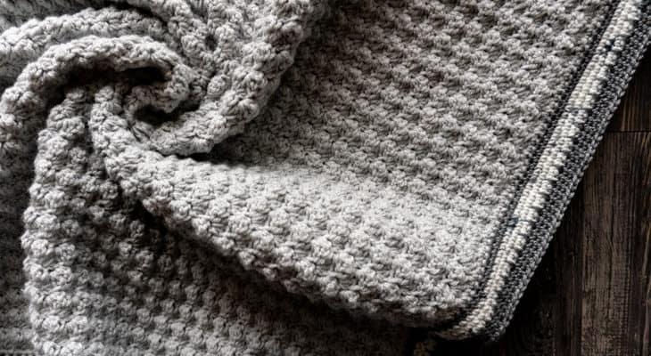 brava worsted speckled baby blanket pattern
