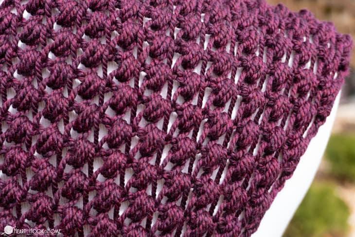 How to crochet tunisian puff stitch