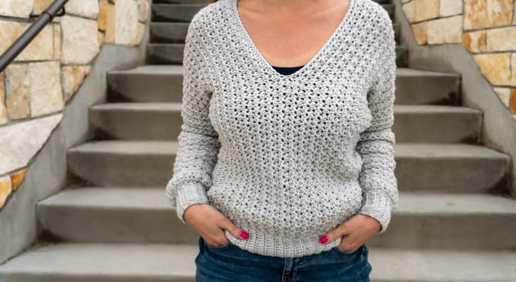 basic v-neck sweater crochet pattern