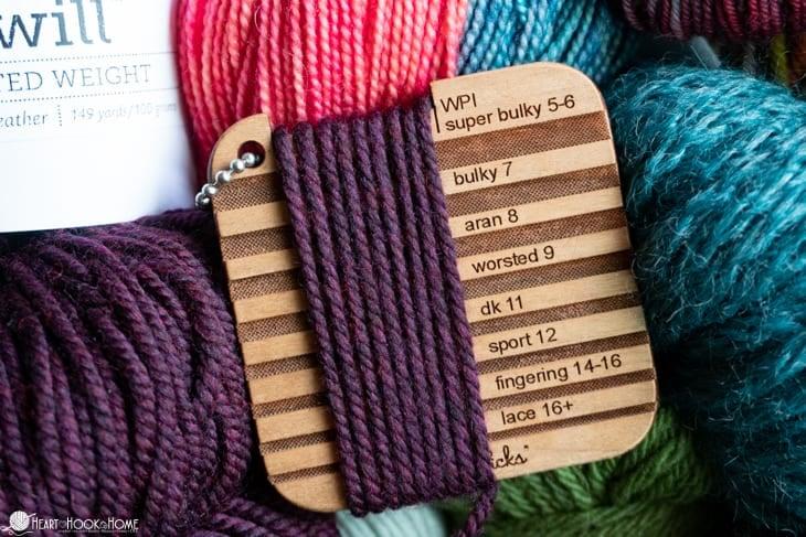 wraps per inch yarn weight tool