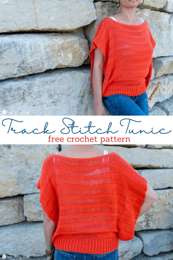 Track Stitch Tunic Free Crochet Pattern