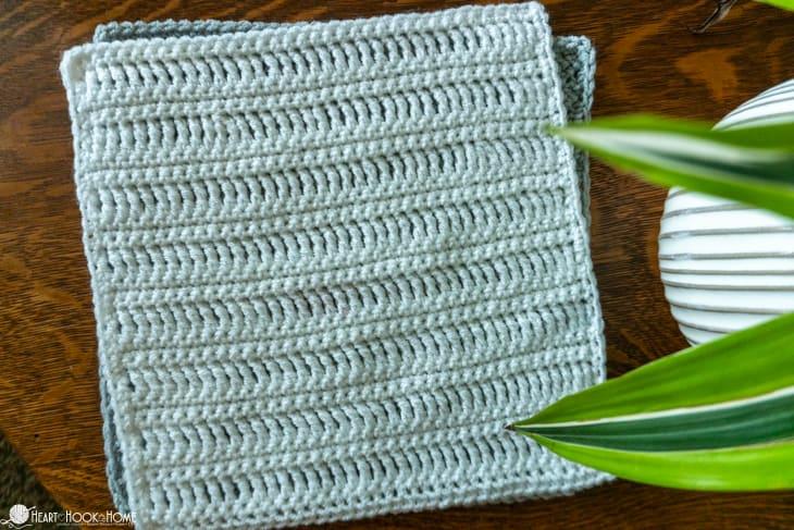 treble crochet afghan square