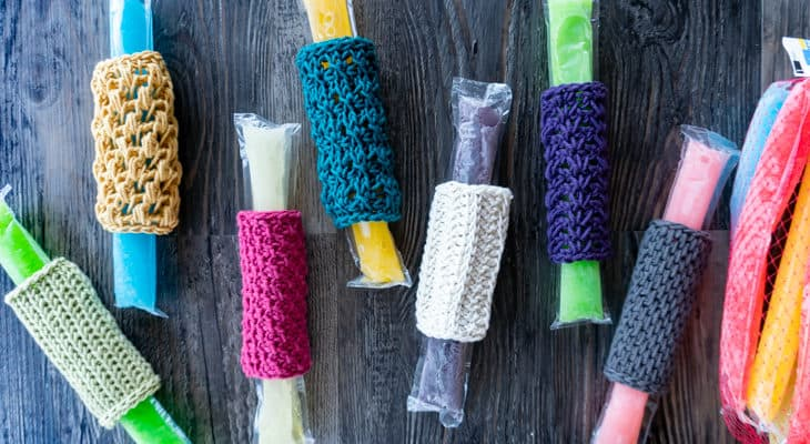Freezer Pop Cozy Crochet patterns