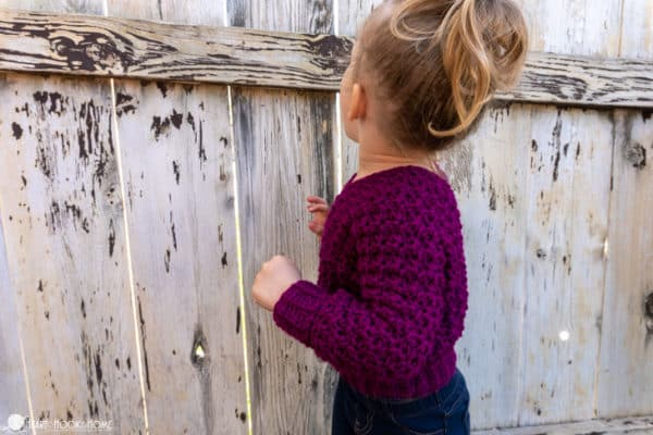 how to crochet a sweater for kids