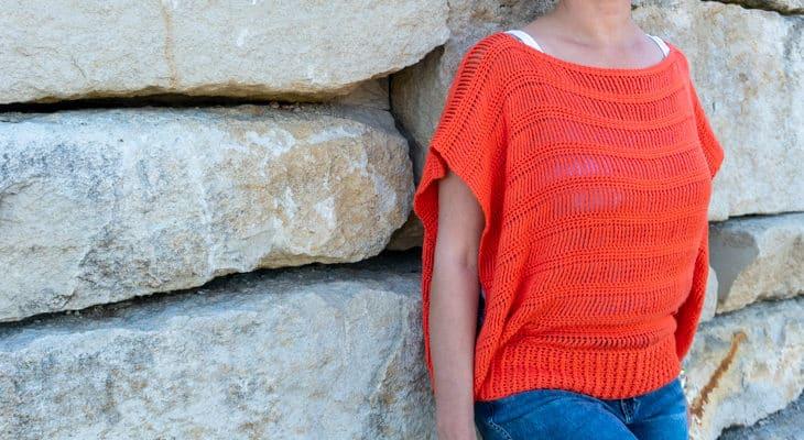Track Stitch Tunic, free summer crochet pattern