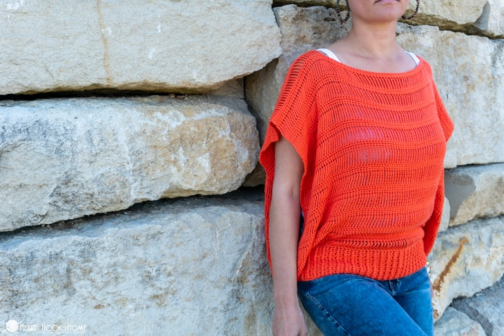 Track Stitch Tunic, free summer crochet pattern