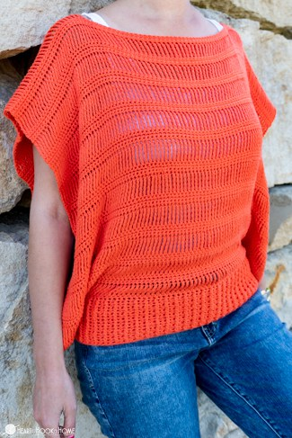 track stitch tunic crochet pattern