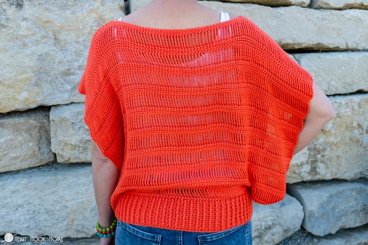summer crochet top free pattern