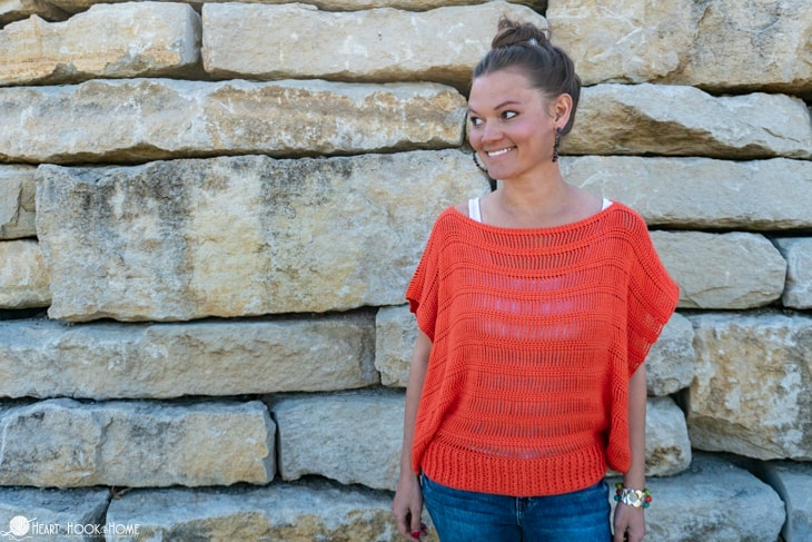 Track Stitch Tunic free crochet pattern