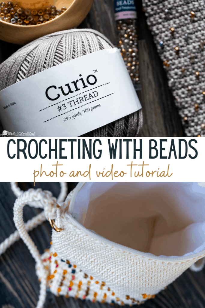 three ways to crochet with beads
