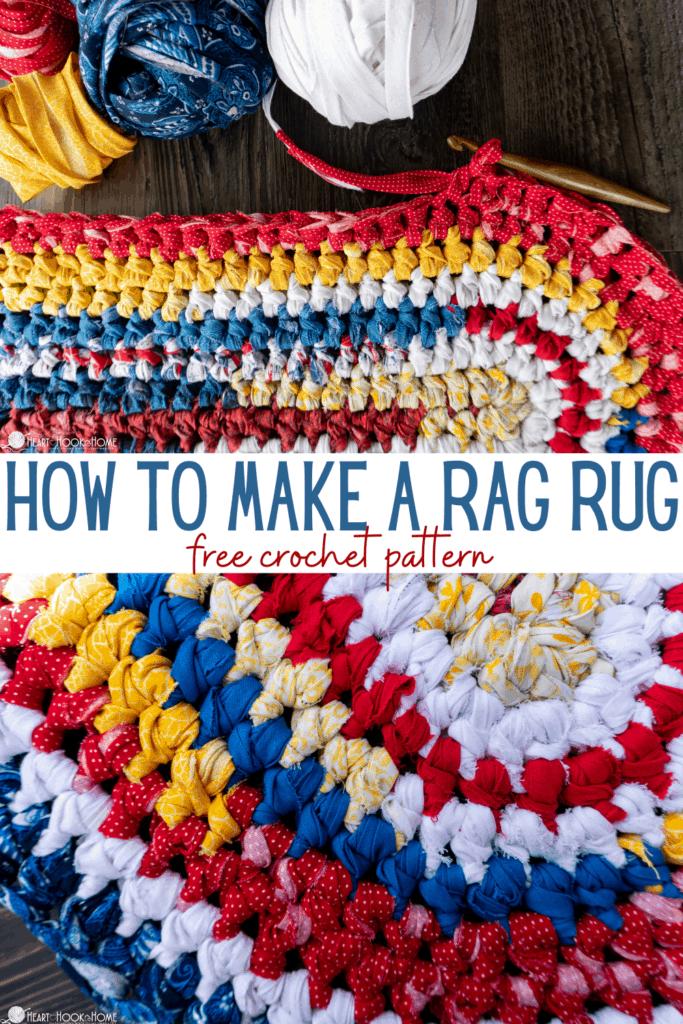 rag rug using fabric free crochet pattern