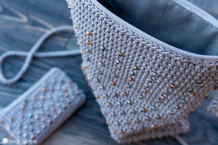 Cross body bead bag crochet pattern