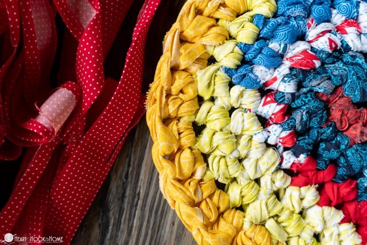 crocheting a rag rug