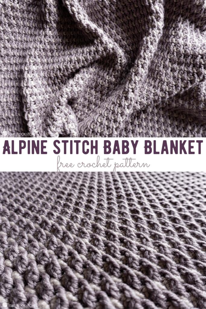 Alpine Baby Blanket Free Crochet Pattern