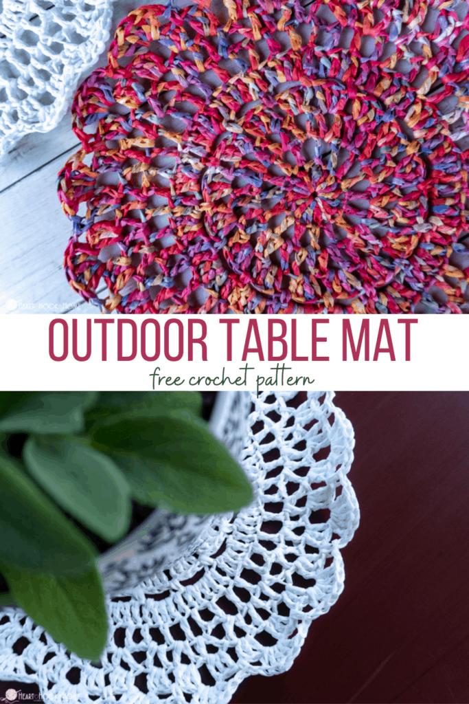 outdoor table mat free crochet pattern