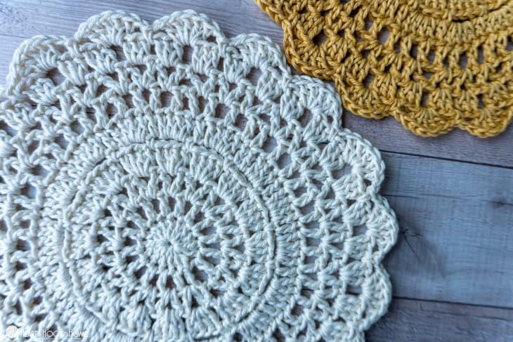 plant coaster crochet pattern
