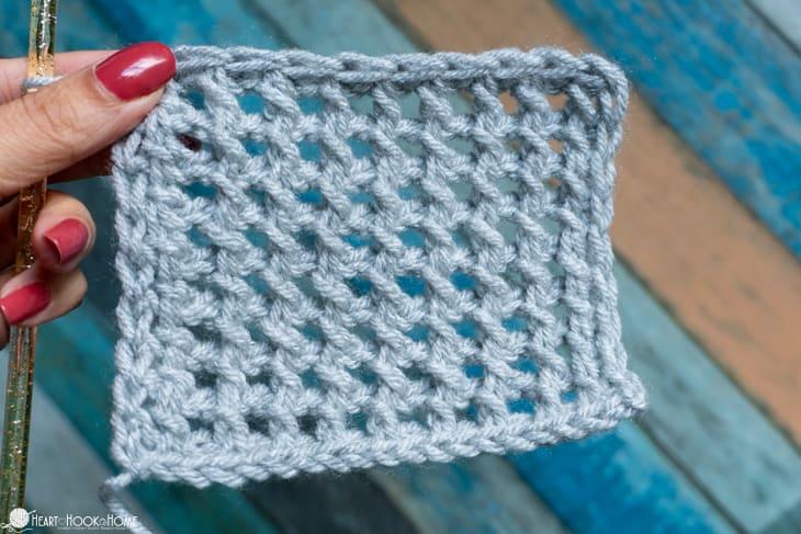 Tunisian Mesh Crochet Tutorial
