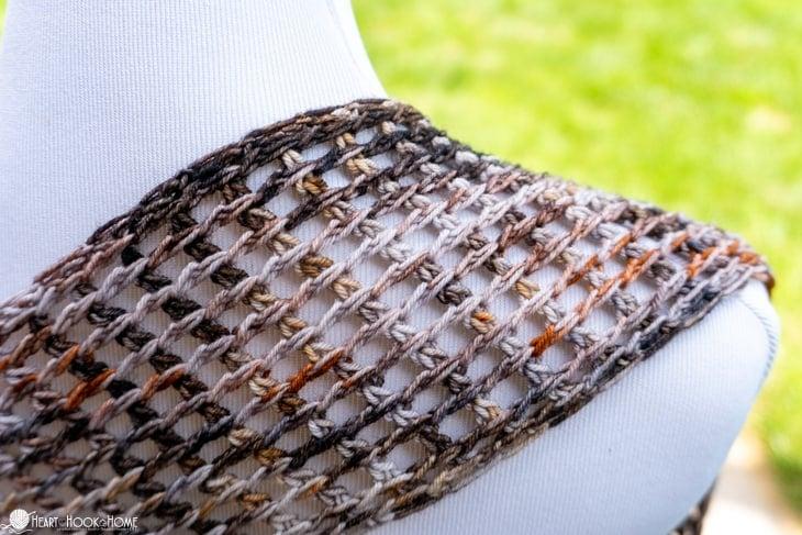 Seattle Summer Scarf free Tunisian crochet pattern