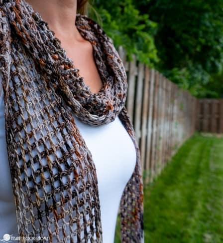 Seattle Scarf free tunisian crochet pattern