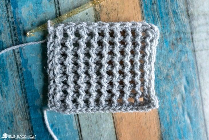 how to crochet tunisian mesh