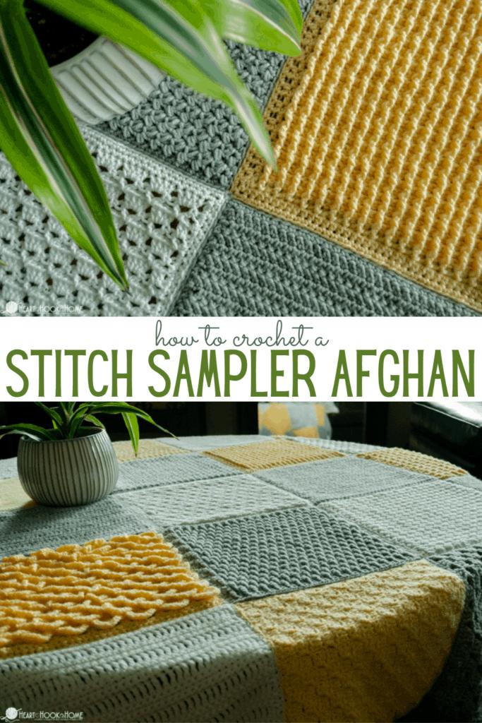 Stitch Sampler Afghan free crochet pattern