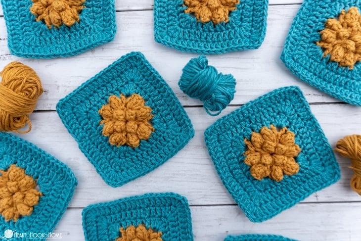 Marigold Sky Granny Square crochet pattern
