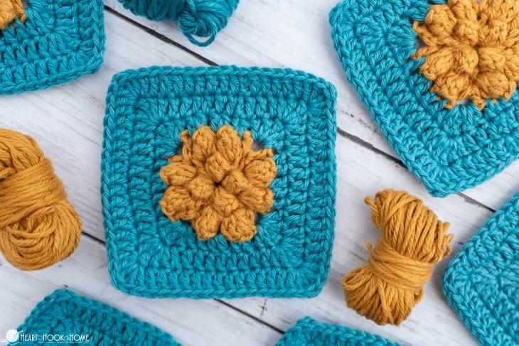 solid granny crochet marigold sky pattern