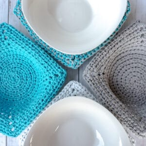 easy microwave bowl cozy crochet pattern