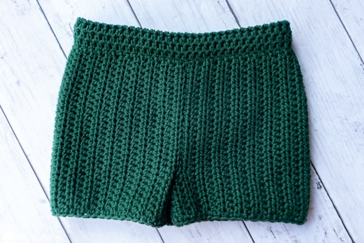 infant size shorts crochet pattern
