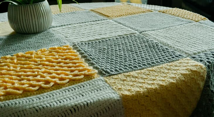 Stitch Sampler Afghan Crochet Pattern part two
