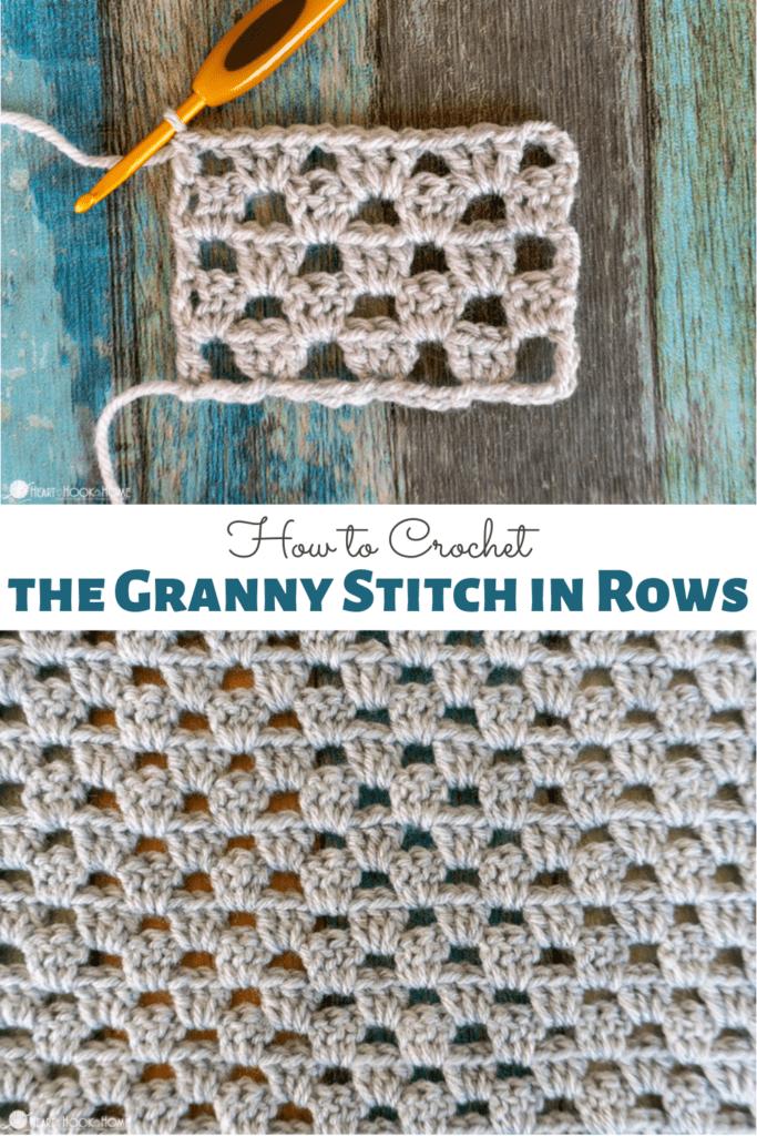 Flat Granny Crochet Stitch Tutorial