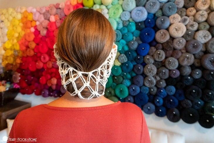 beautiful hair net free crochet pattern