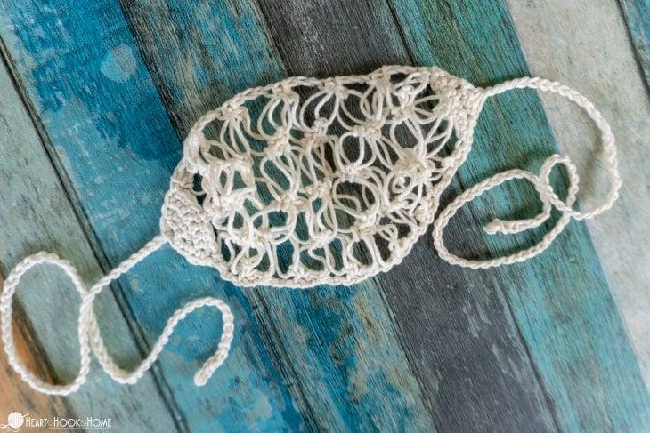crocheted hair net pattern