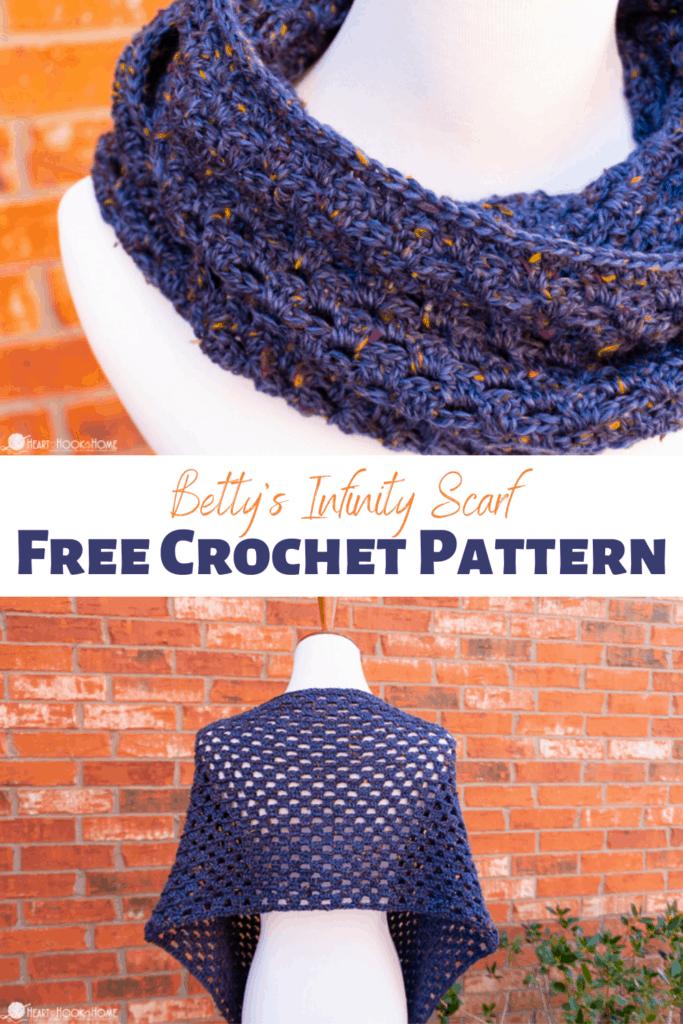 Betty's Infinity Scarf free crochet pattern