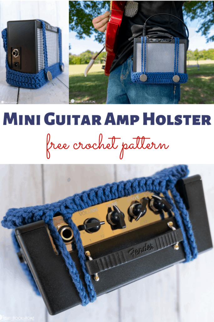 how to crochet a mini guitar amp holster