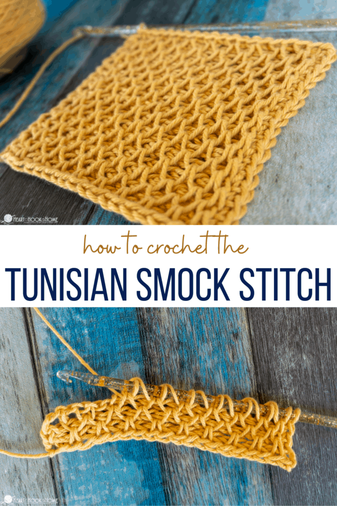 how to crochet the tunisian smock stitch
