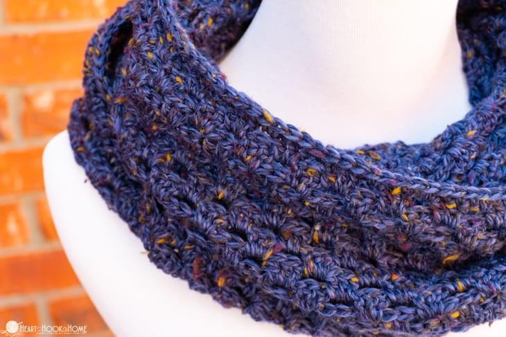 Flat Granny Stitch infinity scarf