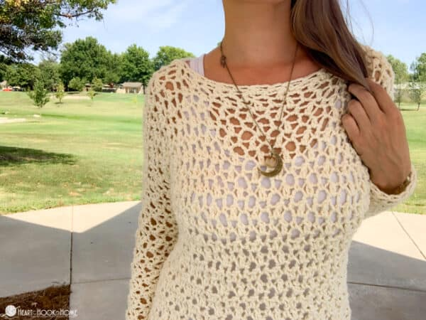 Free chunky sweater crochet pattern